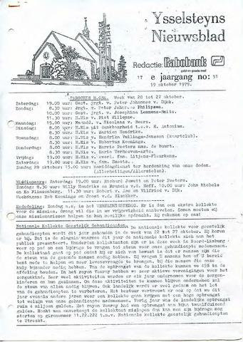 Ysselsteyns Nieuwsblad 1979-10-19