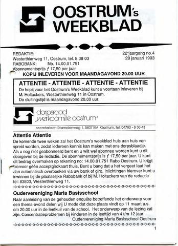 Oostrum's Weekblad 1993-01-28