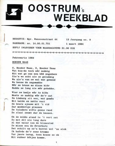 Oostrum's Weekblad 1984-03-01