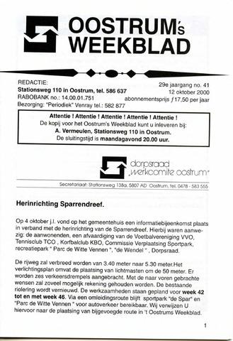 Oostrum's Weekblad 2000-10-12
