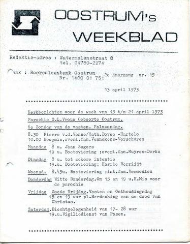 Oostrum's Weekblad 1973-04-13