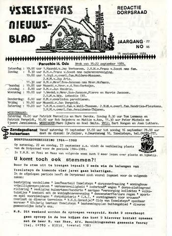 Ysselsteyns Nieuwsblad 1984-09-14