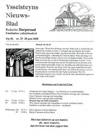 Ysselsteyns Nieuwsblad 2008-06-20