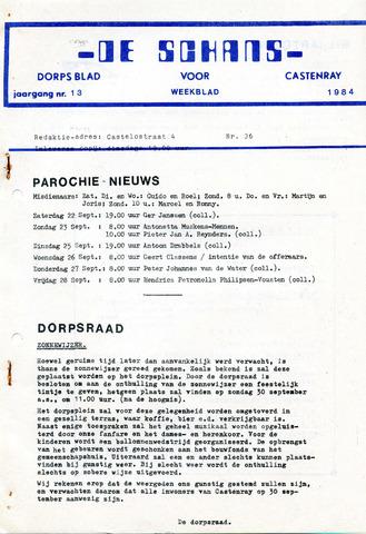 Castenrays dorpsblad De Schans 1984-09-21