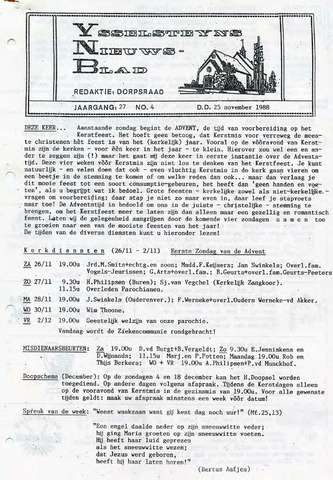 Ysselsteyns Nieuwsblad 1988-11-25