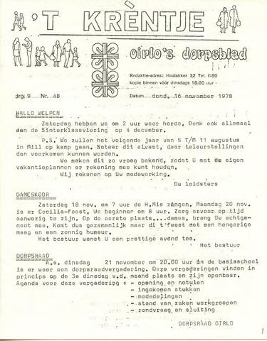 Oirlo's dorpsblad 't Krèntje 1978-11-16