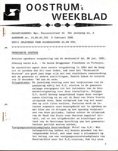Oostrum's Weekblad 1981-02-05