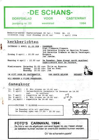 Castenrays dorpsblad De Schans 1994-04-01