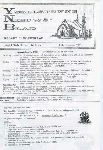 Ysselsteyns Nieuwsblad 1987-10-09