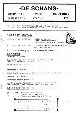 Castenrays dorpsblad De Schans 1992-12-31