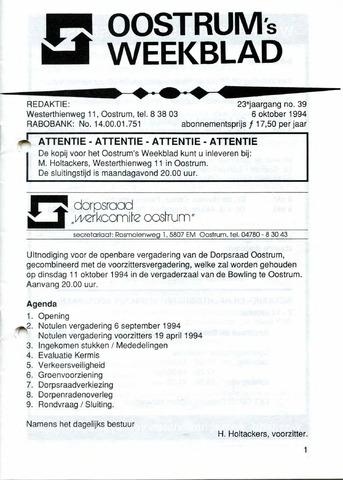 Oostrum's Weekblad 1994-10-06