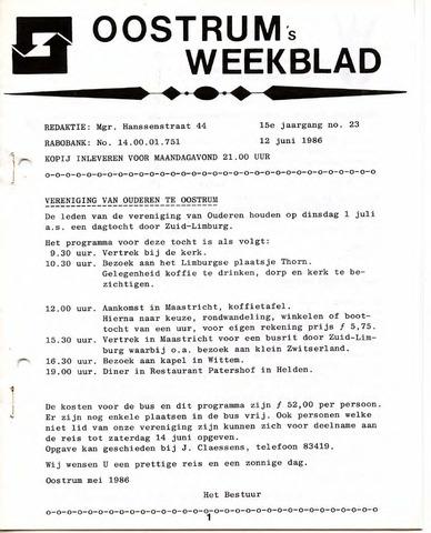 Oostrum's Weekblad 1986-06-12