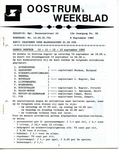 Oostrum's Weekblad 1983-09-08