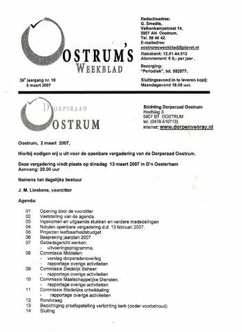 Oostrum's Weekblad 2007-03-08