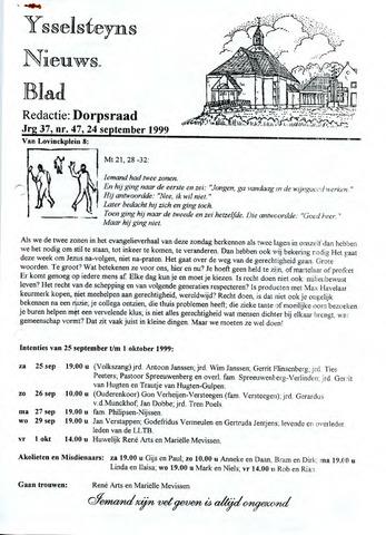 Ysselsteyns Nieuwsblad 1999-09-24