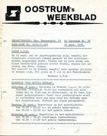 Oostrum's Weekblad 1976-09-16