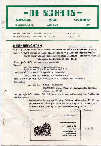 Castenrays dorpsblad De Schans 1986-05-02