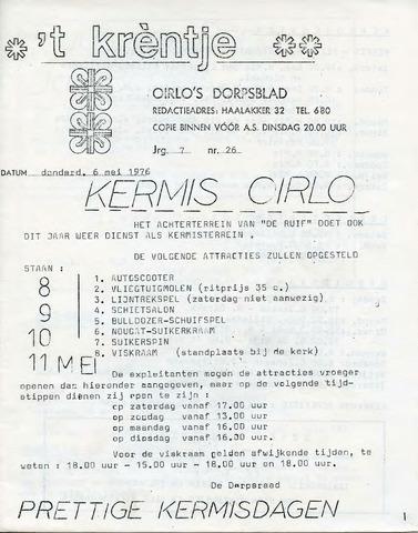 Oirlo's dorpsblad 't Krèntje 1976-05-06