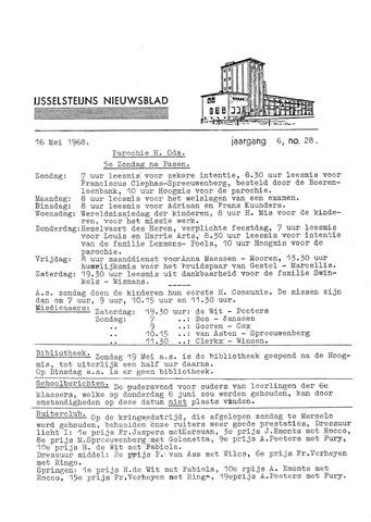 Ysselsteyns Nieuwsblad 1968-05-16