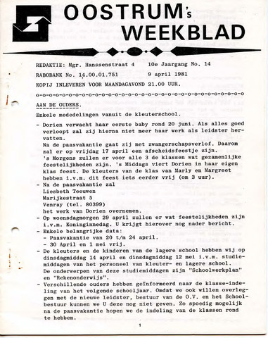 Oostrum's Weekblad 1981-04-09