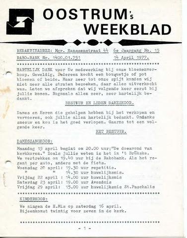 Oostrum's Weekblad 1977-04-14