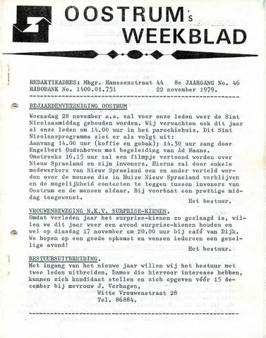 Oostrum's Weekblad 1979-11-22