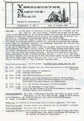 Ysselsteyns Nieuwsblad 1988-11-11