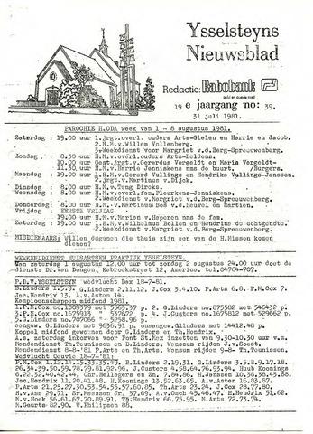 Ysselsteyns Nieuwsblad 1981-07-31