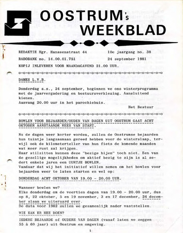 Oostrum's Weekblad 1981-09-24