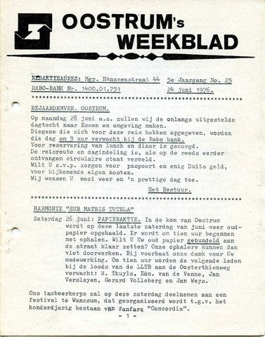 Oostrum's Weekblad 1976-06-24