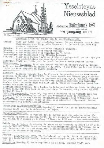 Ysselsteyns Nieuwsblad 1978-03-10