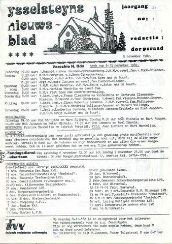 Ysselsteyns Nieuwsblad 1982-11-05