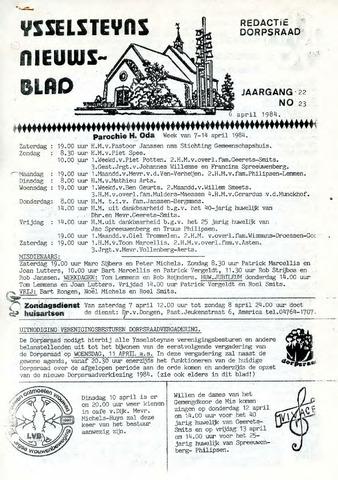 Ysselsteyns Nieuwsblad 1984-04-06