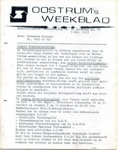 Oostrum's Weekblad 1973-10-05