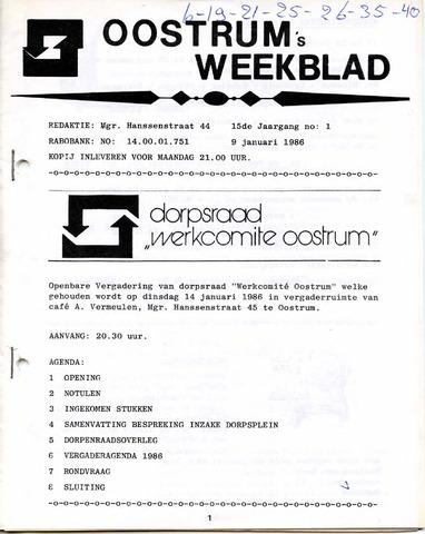 Oostrum's Weekblad 1986