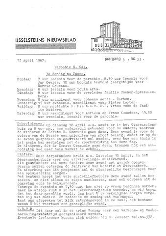 Ysselsteyns Nieuwsblad 1967-04-13