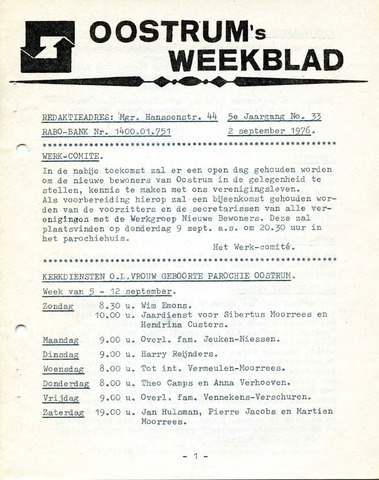 Oostrum's Weekblad 1976-09-02