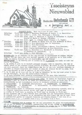 Ysselsteyns Nieuwsblad 1980-07-04