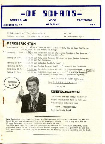 Castenrays dorpsblad De Schans 1984-11-16