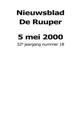 Dorpsblad Leunen-Veulen-Heide 2000-05-05