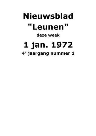 Dorpsblad Leunen-Veulen-Heide 1972