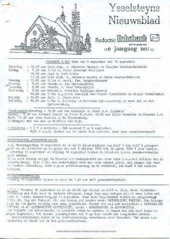 Ysselsteyns Nieuwsblad 1979-09-07