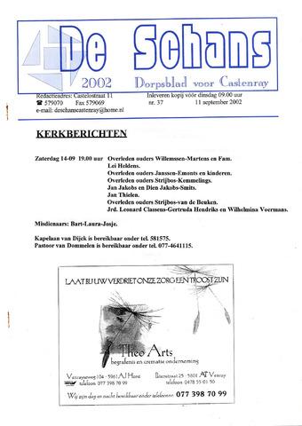 Castenrays dorpsblad De Schans 2002-09-11