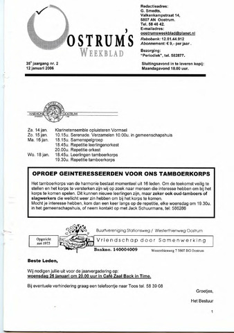 Oostrum's Weekblad 2006-01-12