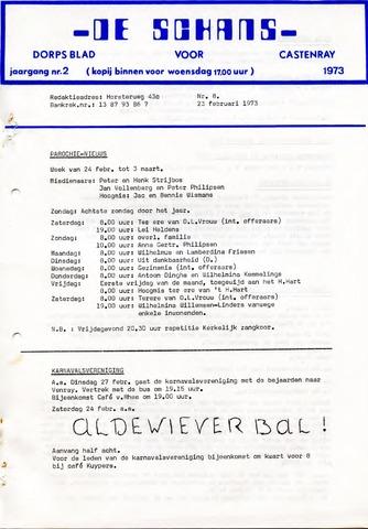 Castenrays dorpsblad De Schans 1973-02-23