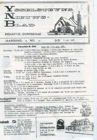 Ysselsteyns Nieuwsblad 1987-07-03