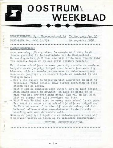 Oostrum's Weekblad 1978-08-24