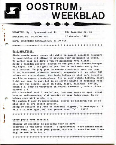 Oostrum's Weekblad 1981-12-17