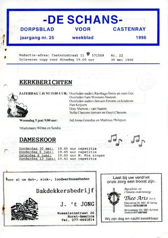 Castenrays dorpsblad De Schans 1996-05-30