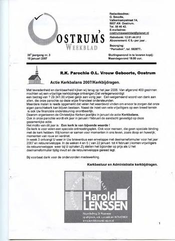 Oostrum's Weekblad 2007-01-18